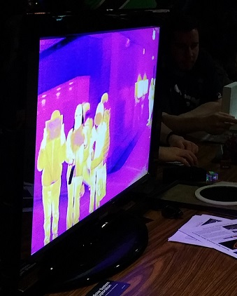 IR Camera Demo at Science Fun Night