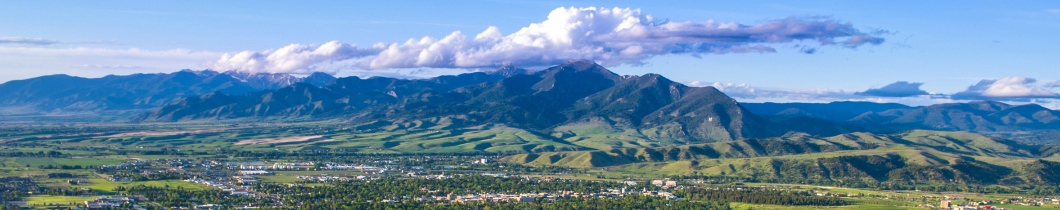 view of the bridger mountain range